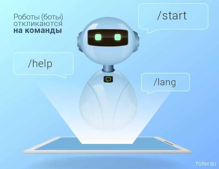 картинка: роботы и боты в telegram