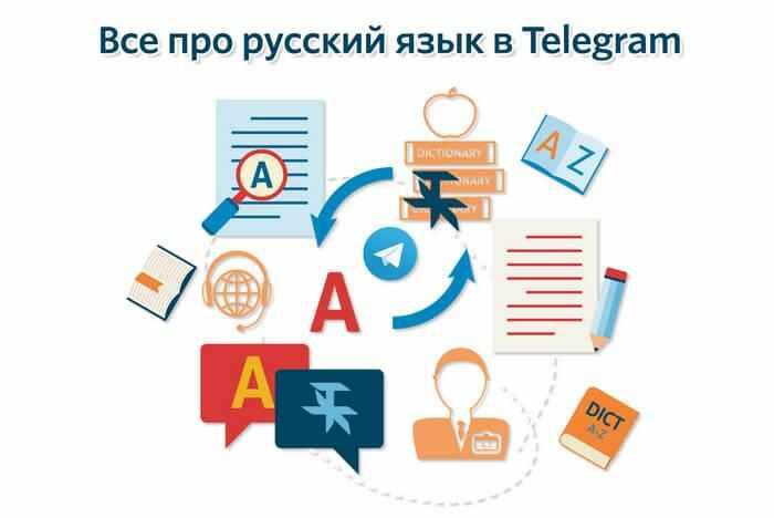 картинка: перевод telegram на русский язык