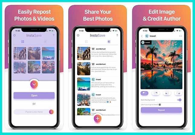 Instasave - приложение для репостов в Инстаграме