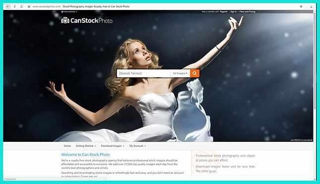 Сайт Canstockphoto
