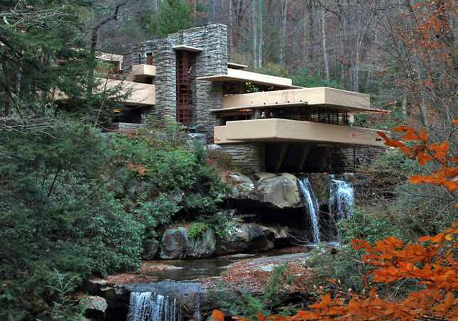 Дом над водопадом Фрэнк Ллойд Райт