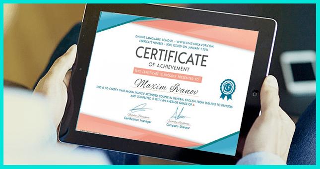 Онлайн-сертификат может быть полезен при устройстве на работу