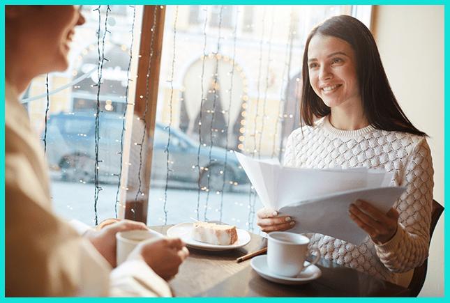 Переговоры в кафе