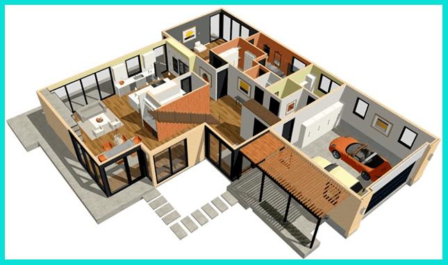 Проект дома - 3d модель