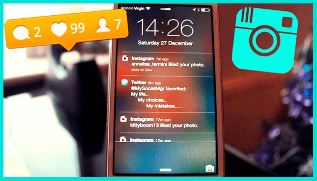 Пуш-уведомление в Инстаграм
