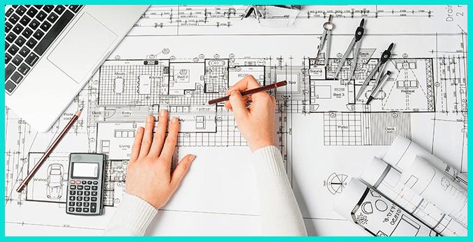 Работа архитектора-дизайнера - полный план здания