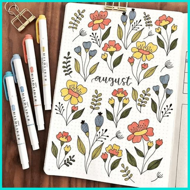 Рисунки цветочных композиций - флористический скетчинг
