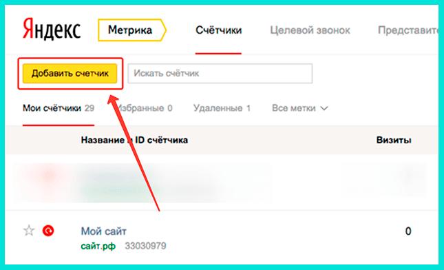 Счетчик необходим для работы Яндекс Метрики