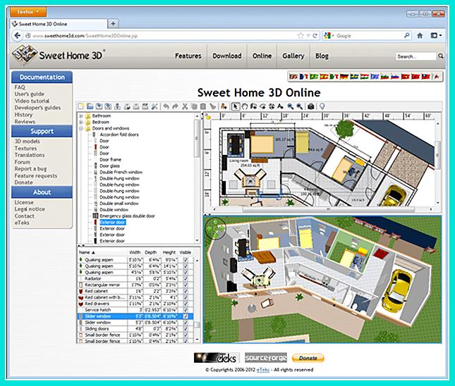 Sweet Home 3d - программа для дизайнеров интерьера