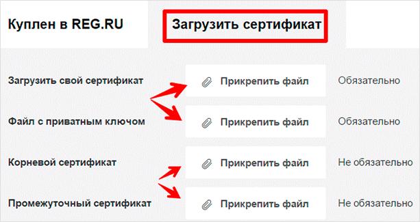 Загрузить в REG.RU