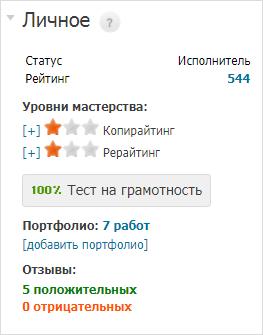 Уровень мастерства на Etxt