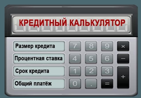 Кредитный онлайн-калькулятор