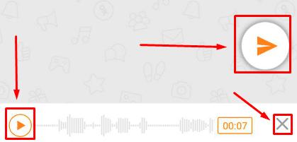 Возможные действия с аудиозаписью