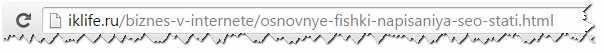 Правильный URL-адрес статьи