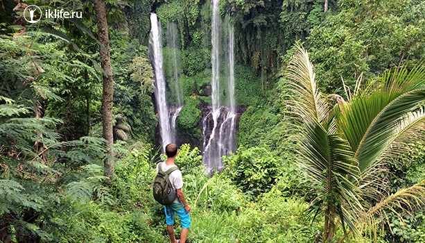 водопад секумпуль на бали