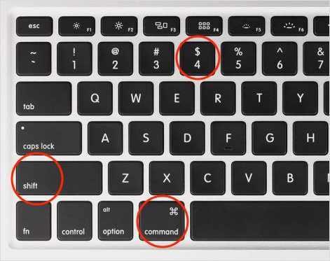 Горячие клавиши скриншота на Маке