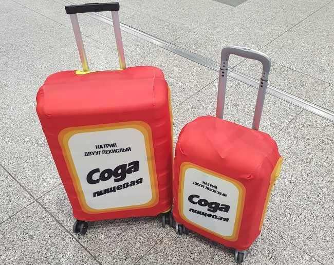 Необычный дизайн чехла для чемодана