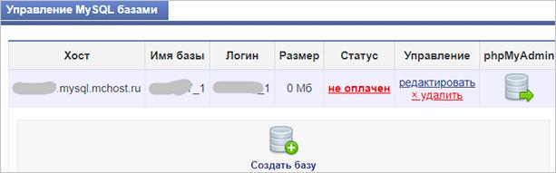 Управление базами данных MySQL