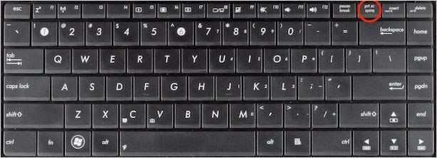 Клавиша print screen на клавиатуре