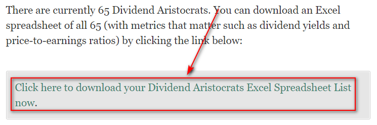 Список S&P 500 Dividend Aristocrats