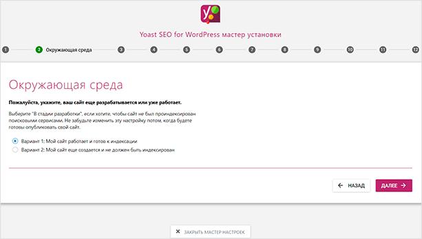 Индексация пустого сайта на WP