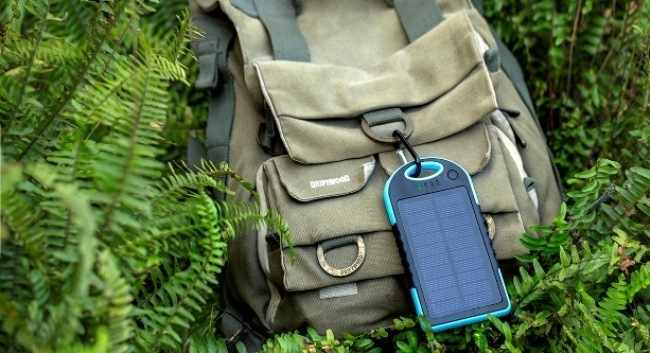 Solar power bank для путешествия