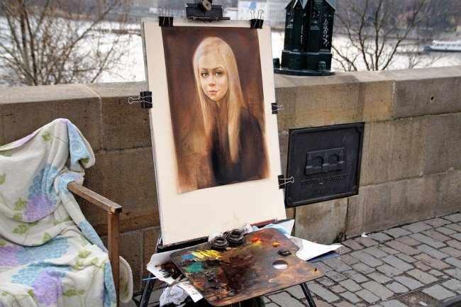 Рисование в парке
