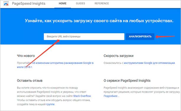 PageSpeed – проверка скорости загрузки страницы