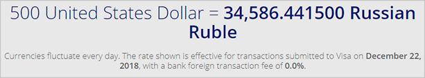 Расчет долларов в рублях
